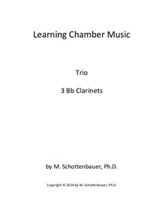Learning Chamber Music: Clarinet Trio