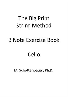 3-Note Exercises: Cello